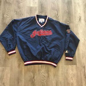 Vintage 90s Cleveland Indians Pullover Windbreaker